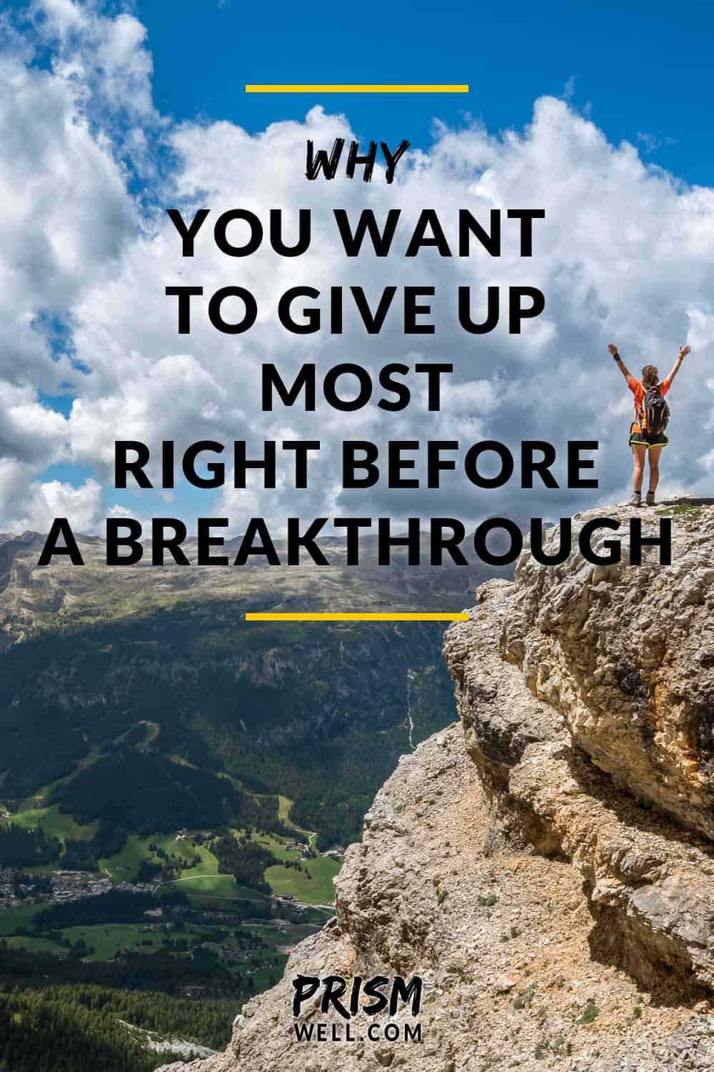 The more you feel like giving up, the closer you might be to that breakthrough. Here's why I look at discouragement as a sign that I'm getting close.