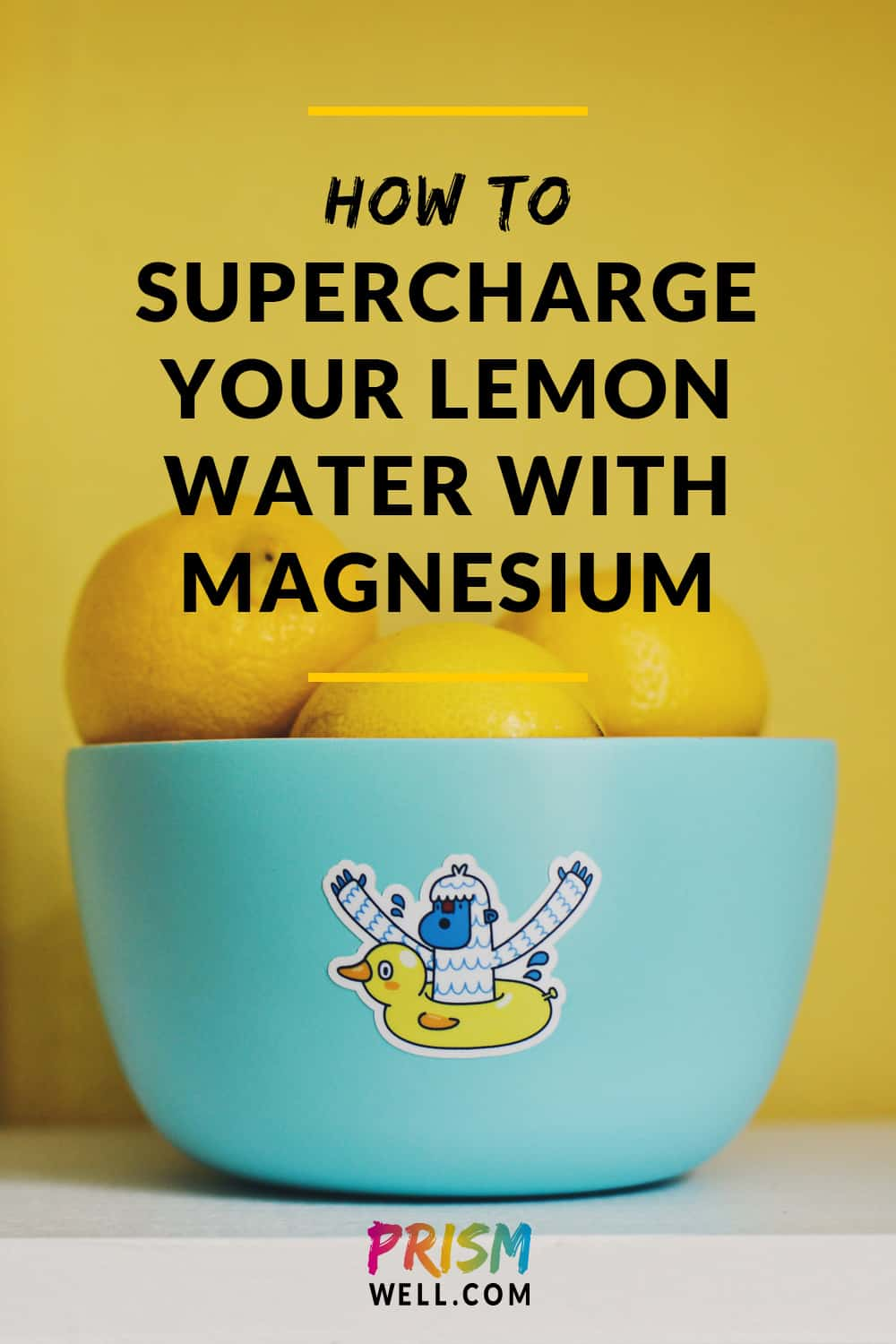 Out of all the supplements I take, this lemon water potion provides the most bang for my buck. It'll make you feel so much better, and it tastes great!