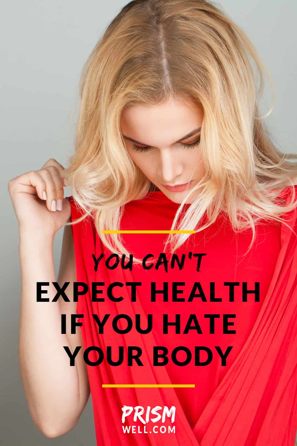 Our bodies carry inner emotional scars from wounds we've given ourselves. Many digestive issues, hormonal imbalances, fertility problems, and other chronic conditions are fed when you hate your body. We can't expect our bodies to magically give us health when we've spent years giving them the opposite.